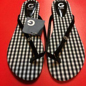 Guess Checkered Black Flip Flop